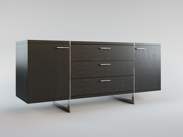 greenwich contemporary modern sideboard by modloft. Black Bedroom Furniture Sets. Home Design Ideas