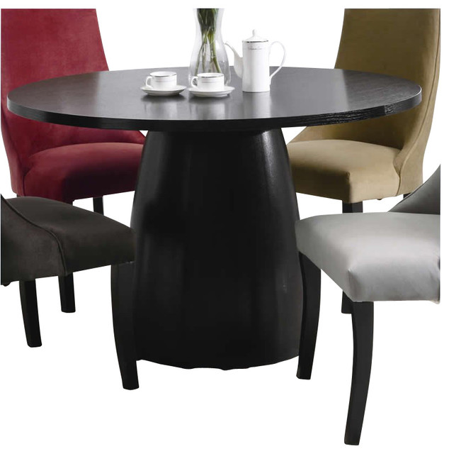 Coaster Amhurst Single Pedestal Round Dining Table in  : modern dining tables from www.houzz.com size 634 x 640 jpeg 54kB
