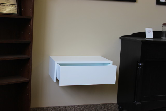 Contemporary wall hung night tables modern nightstands for Wall hung nightstand