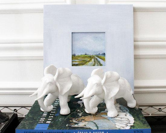 Vintage Decor Accessories - AM Dolce Vita, Blanc de Chine Porcelain Elephants, Chinoiserie Decor
