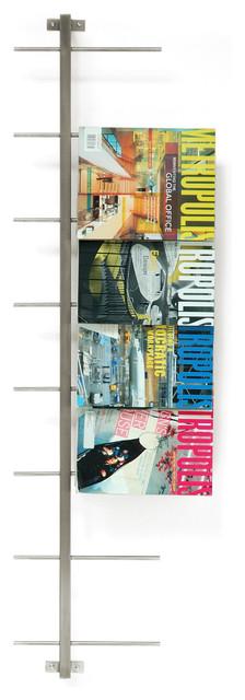 Gus Modern Stainless Steel Magazine Racks modern-magazine-racks