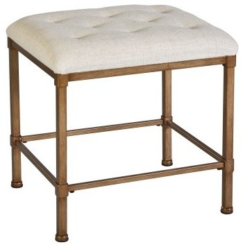Katherine Vanity Stool - traditional - bedroom benches - by Hayneedle