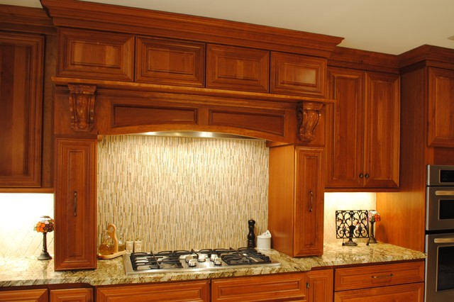 HomeCrest Cambridge Cherry Autumn mediterranean-kitchen-cabinets