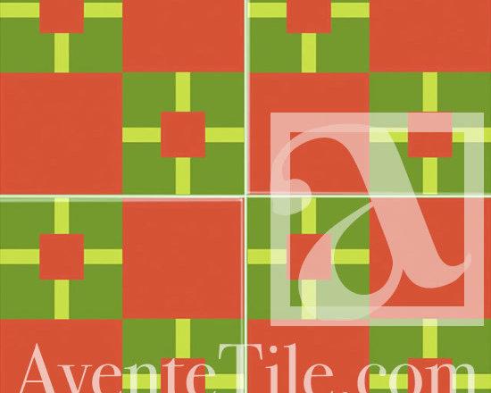 "Geometric Geo 07 Cement Tile 8"" x 8"" -"