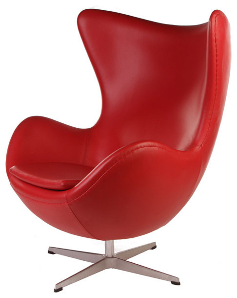Leather Egg Chair contemporary-chairs