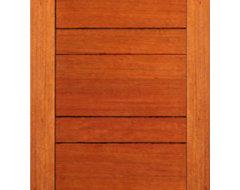 Exterior Flush Single Door, Mahogany, Contemporary Design contemporary-front-doors