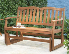 2 Person Glider Bench traditional-outdoor-stools-and-benches