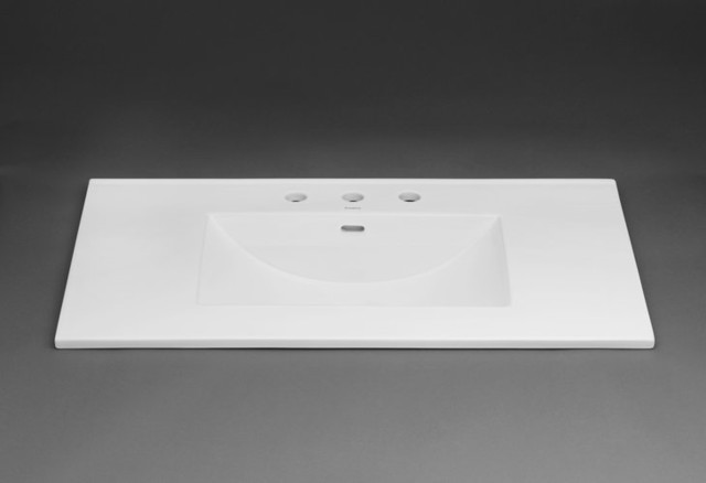 Vanity Tops With Integrated Sink : Ronbow wh white quot ceramic vanity top with