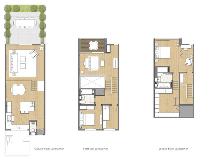 Terraced House Refit Contemporary Floor Plan London