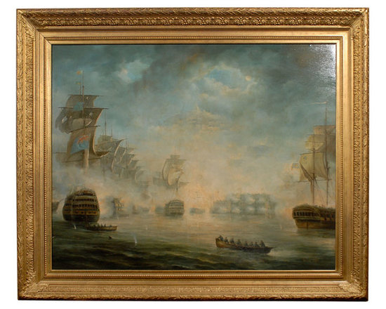 "Current Inventory for Purchase - ""Battleships"" oil painting by William Condy"