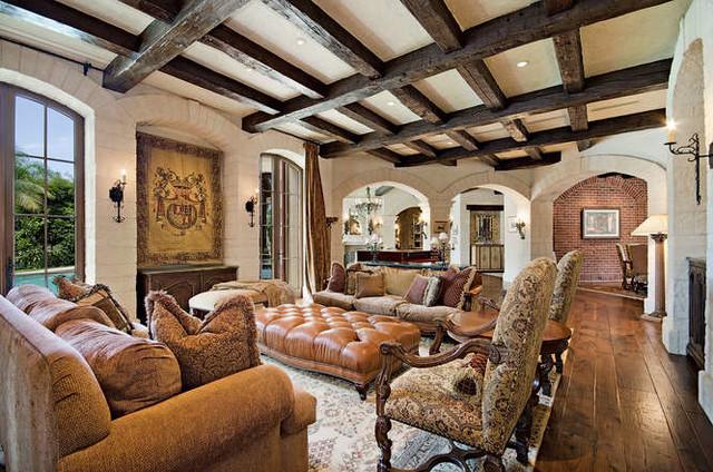 Grey Oaks Residence - New Construction mediterranean-family-room