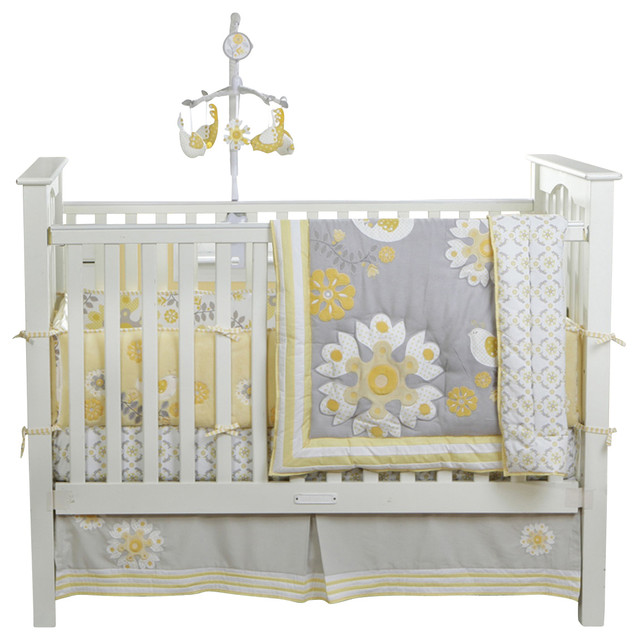 Sweet Sunshine 3-Piece Crib Bedding Set by Bananafish traditional-kids-bedding