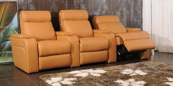 Diamantelli Italian Leather Reclining Sofa