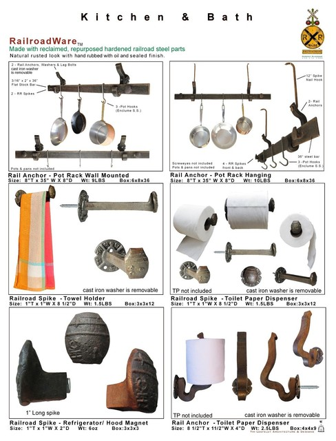 Railroad inspired Hardware eclectic-home-improvement
