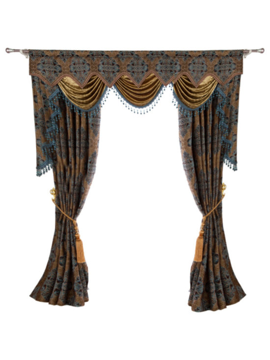 Ulinkly.com - Luxurious window curtain - Jack Win - This price includes 2 panels and valance.