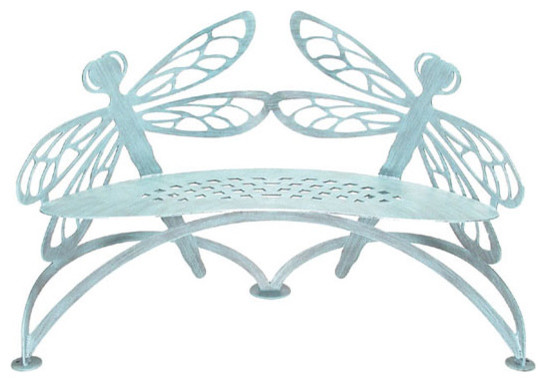 The Dragonfly Bench eclectic-outdoor-stools-and-benches