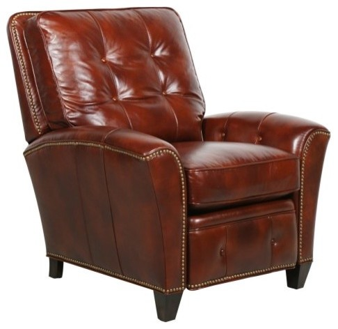 Simple lines button tufting and French accent seams give the Barcalounger Sergio contemporary-accent-chairs