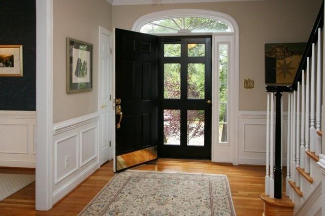 Front door storm door wainscoting for Front door and storm door