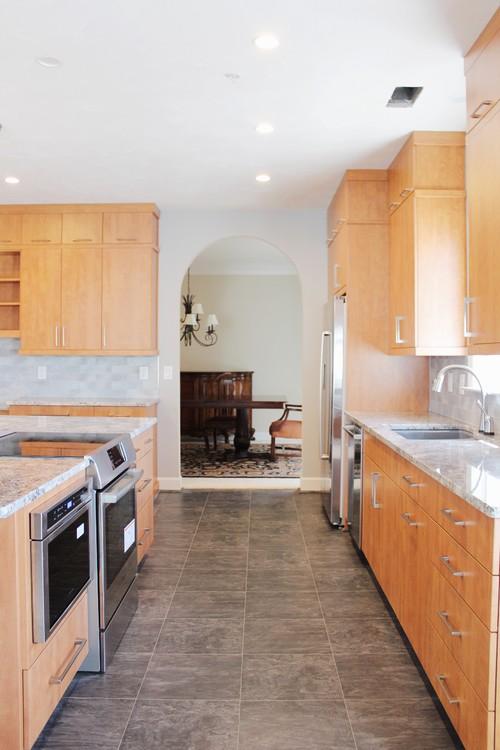 Before after scandinavian inspired kitchen remodel for Kitchen design 90501