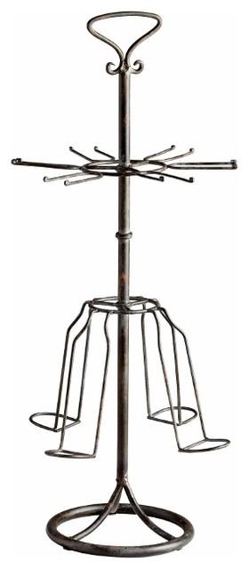 Steel Tabletop Wine Rack Glass  Holder transitional-wine-racks