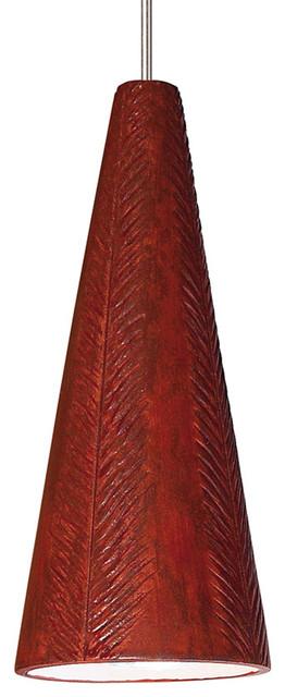 A19 Lighting LVMP04-RR-X Fossil Mini Pendant Red Rock contemporary-pendant-lighting