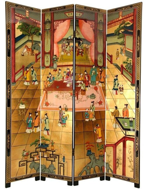 7 ft Tall Dream of the Red Chamber Screen Asian
