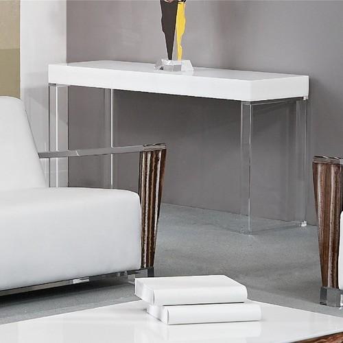 Houzz Black Coffee Table: Contempo Acrylic Console Table
