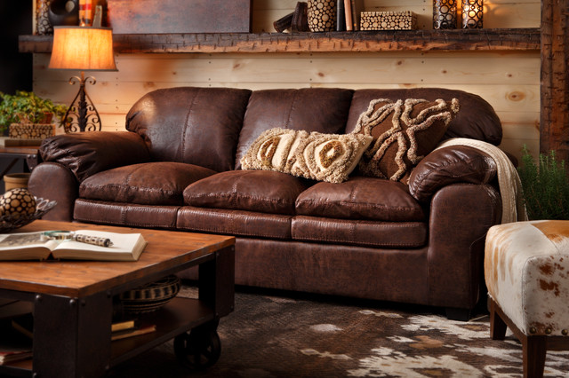 Colton Sofa Rustic Living Room By Mart