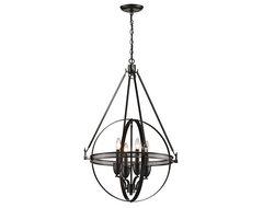 Hemispheres Pendant contemporary-chandeliers