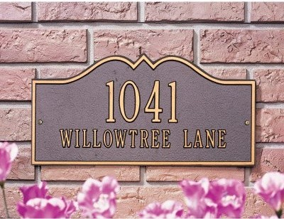 Whitehall Hillsboro 2 Line Wall Plaque modern-house-numbers