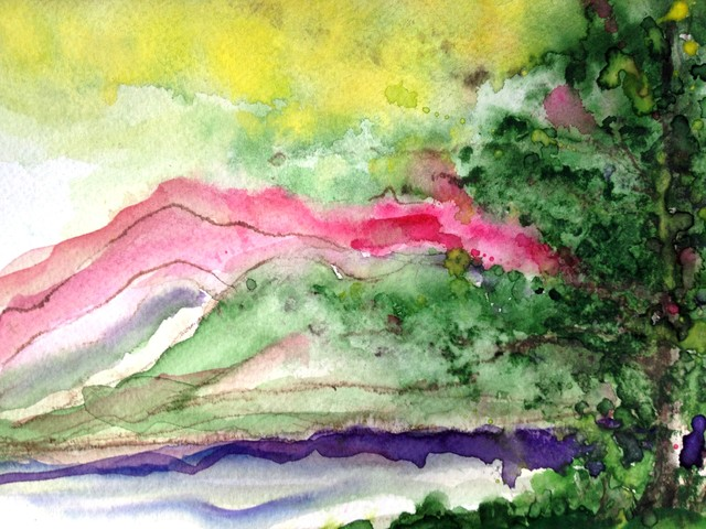 Vashon Island, Watercolor modern