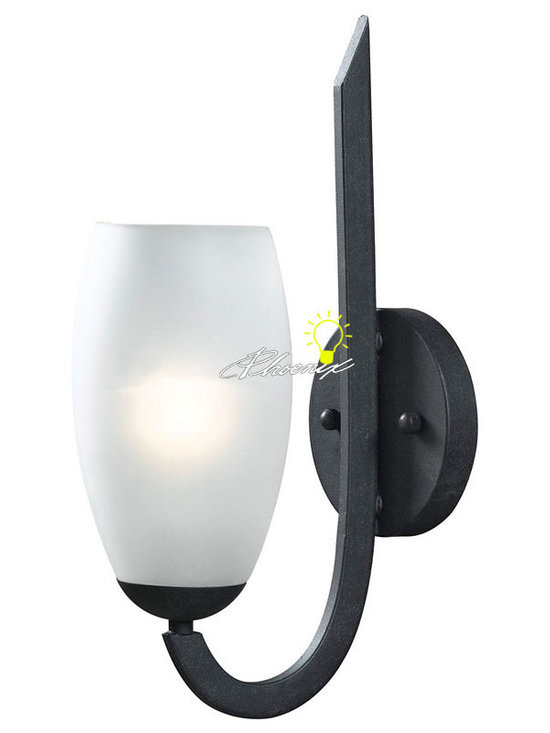 Modern Simple Iron Art and Depolished Glass Wall Sconce - Modern Simple Iron Art and Depolished Glass Wall Sconce