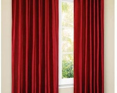 Canopy Faux-Silk Thermal Interlined Curtain Drapery Panel modern-curtains