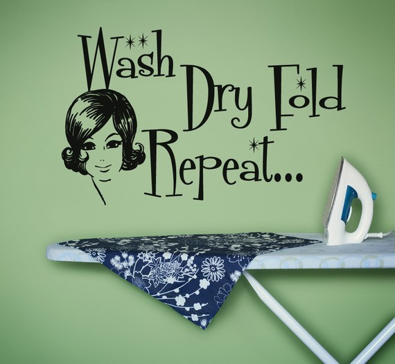 Vinyl Wall Sticker Decal Art Wash Dry Fold Repeat By Urban Walls contemporary-wall-decals