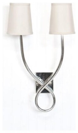 Worlds Away Hannah Nickel Plated Sconce traditional-wall-lighting