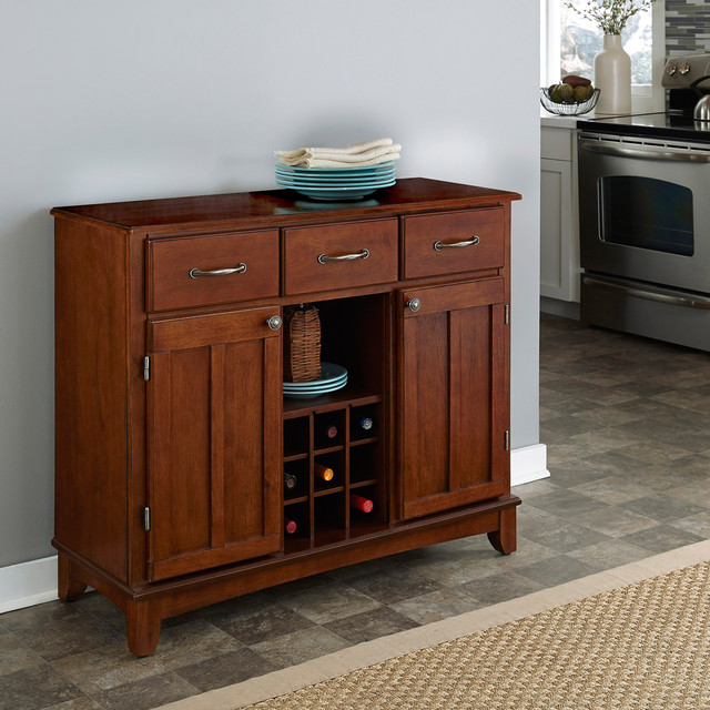 Medium cherry buffet with wood top contemporary