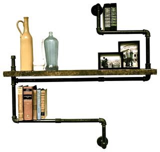 ... Wood Shelf - Industrial - Display And Wall Shelves - by Oilfield Slang