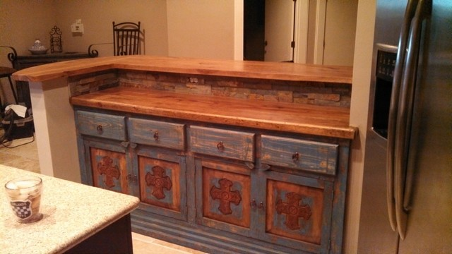 ... Rustic - Kitchen Countertops - austin - by DeVos Custom Woodworking