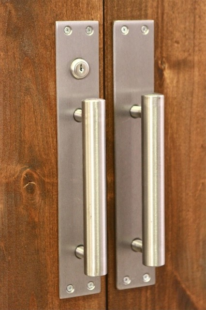 Barn Door Pull W Lock Modern Cabinet And Drawer