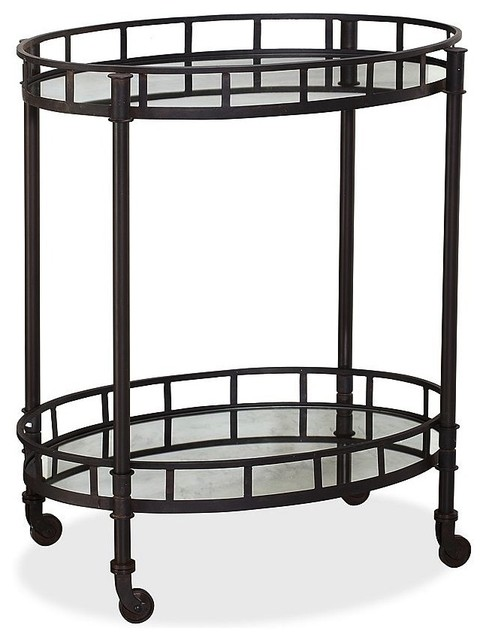 Caprice Metal Bar Cart traditional-bar-carts