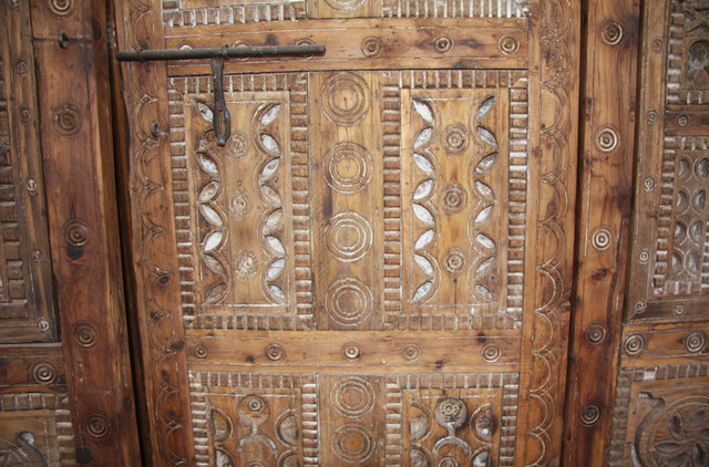 wood craft old doors , furniture 4 poster antique wood