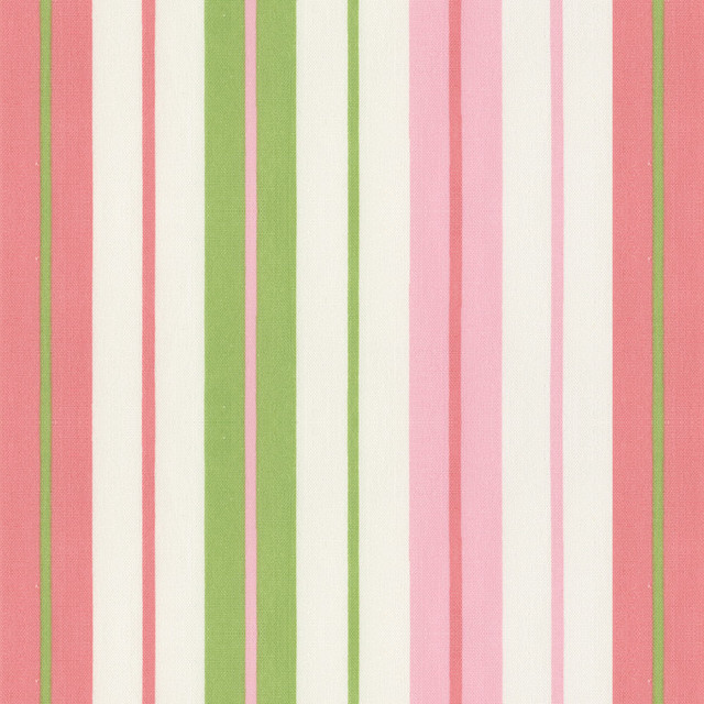 Pink And Lime Stripe Fabric Traditional Fabric