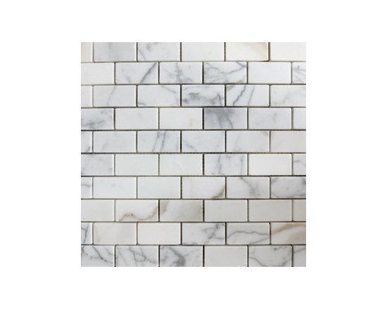 "1""x2"" Calacutta Gold Small Brick Natural Stone Mosaic -"