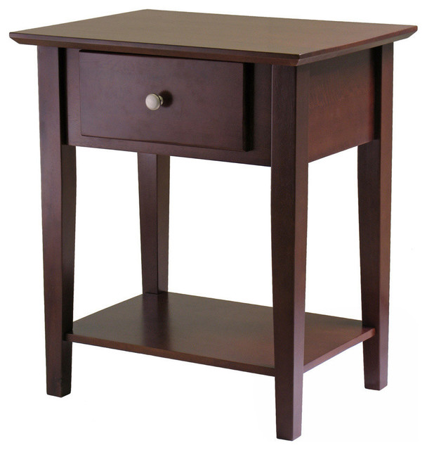 Winsome Wood Shaker Nightstand W Drawer Contemporary