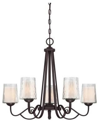 Quoizel Adonis ADS5005DC Chandelier - 26W in. - Dark Cherry modern-chandeliers