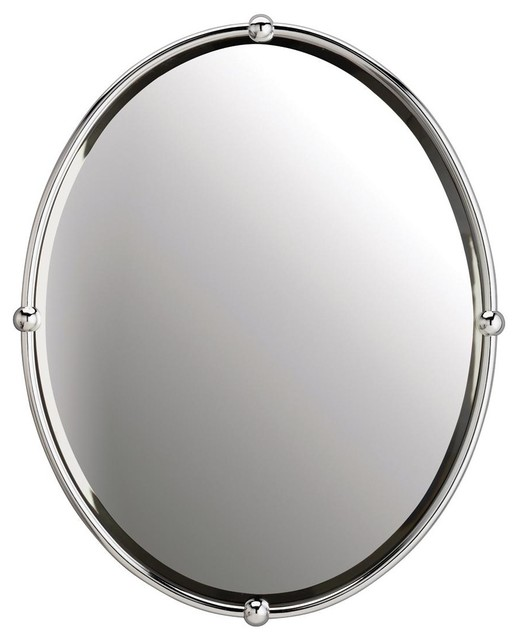 Oval Strapping Bathroom Mirror Bathroom Mirrors by
