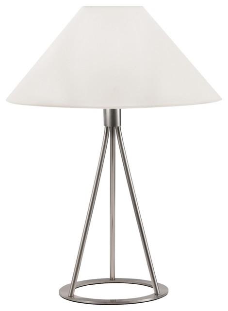 Sonneman Tetra Satin Nickel Table Lamp contemporary-table-lamps