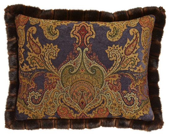 Dian Austin Couture Home - MIDNIGHT BLUE SHAM KING - INK/GOLD (KING) - Dian Austin Couture HomeMIDNIGHT BLUE SHAM KING