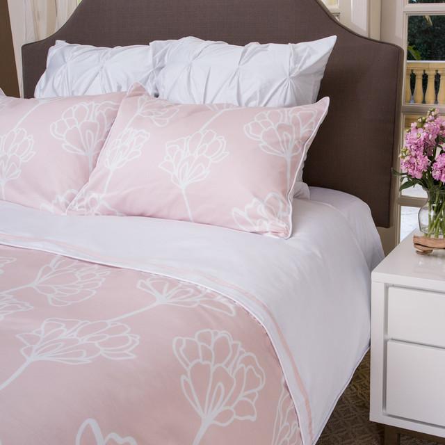 Floral Print Duvet Cover The Mariposa Pink Modern