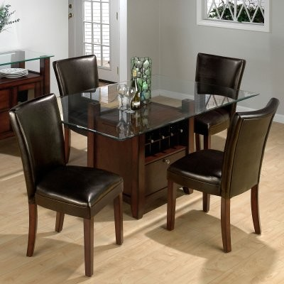 Jofran Chelsea Dining Table and 4 Chestnut Chairs modern-dining-tables